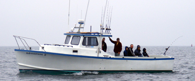 Light tackle charter boat